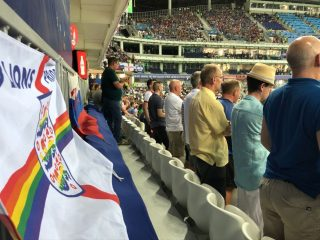 England Fan Flies LGBTQ Pride Flag at the World Cup in Russia